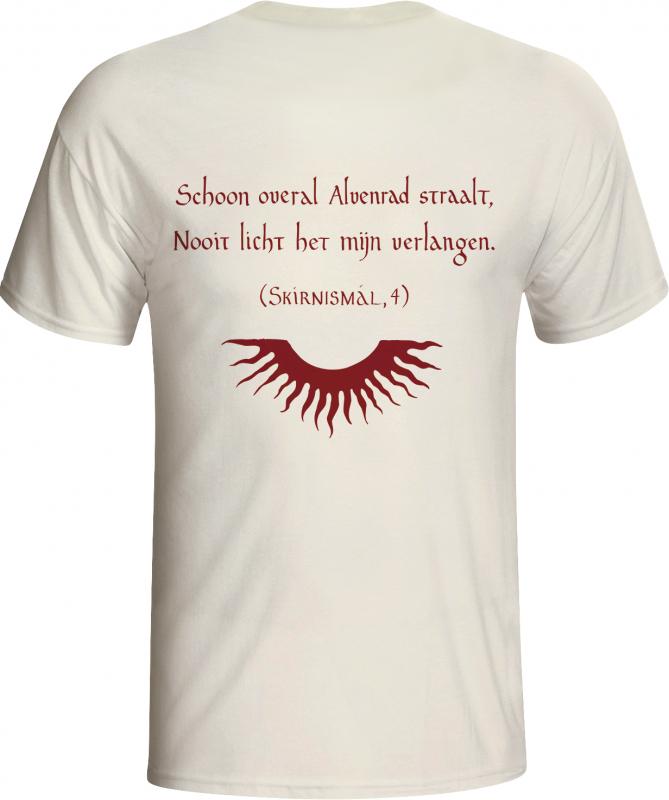 Alvenrad - Heer T-Shirt  |  L  |  white