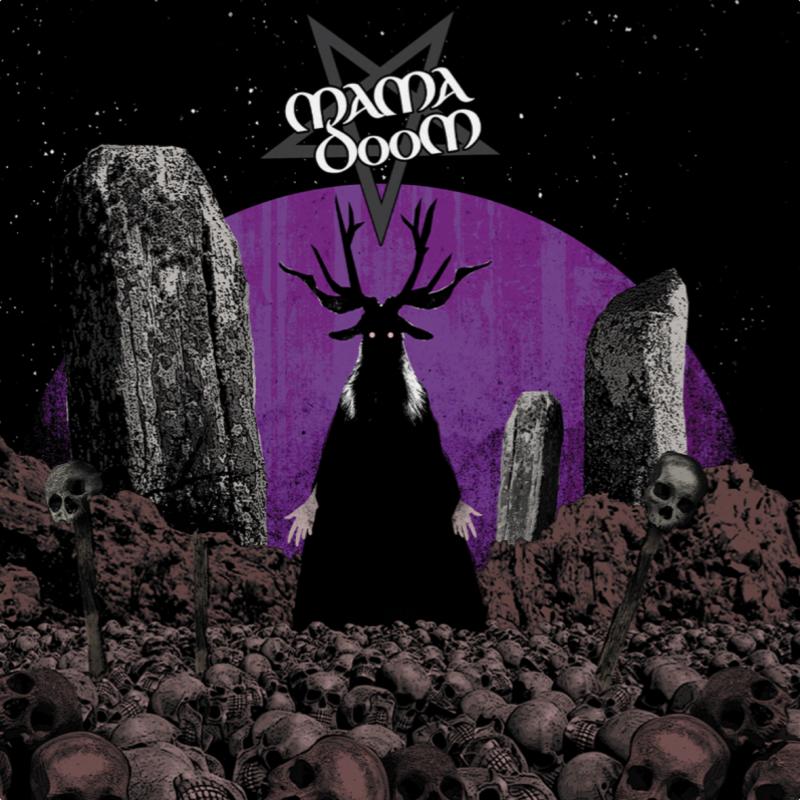 Mama Doom - Ash Bone Skin N Stone Vinyl LP     Purple/Black